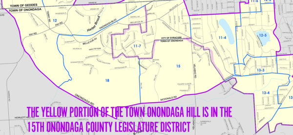 Portions of the Town of Onondaga Hill are in the Onondaga County Legislature District #15